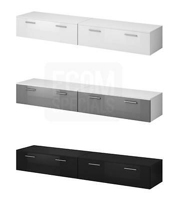 TV Unit Cabinet TV Stand Entertainment Lowboard Boston 200cm, Front High gloss