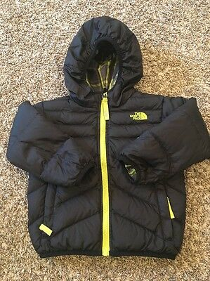 The North Face 'Moondoggy' Reversible 550 Down Jacket Toddler Blue Size 3 EUC 3T