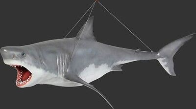 Shark - Shark Statue - Great White Shark Sculpture 11FT Hanging - White Shark