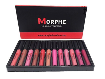 ❤️ Morphe Brushes ❤️ Liquid Matte Lipstick Set ❤️ 12 Piece Set