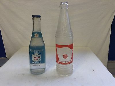Vintage Hires and Canada Dry bottles
