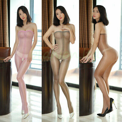 Sheer Silky Smooth Women Ladies Bodystocking Dress Lingerie Underwear Nightwear