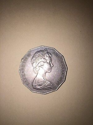 1978 Australia 50 Cent Coin Rare Queen Elizabeth Ii Excellent Condition
