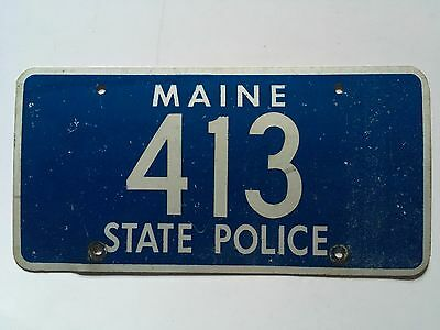 Maine State Police License Plate Trooper Highway Patrol Older Style 1960s 1970s