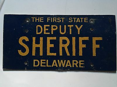 1960s Delaware Deputy Sheriff License Plate Police Rare!! Sussex County