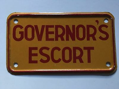 1970s 1980s Mississippi Motorcycle License Plate Police Governor's Escort Rare!!