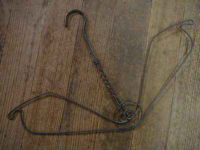 Large Antique Ornate Heavy Victorian Lady Dress Form Wire Clothes Hanger Springy