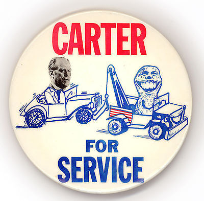 "* Wonderful  ~ "" CARTER FOR SERVICE "" ~  1976 Campaign Button"