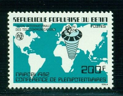 Benin Scott #533 MNH ITU Map Satellite $$