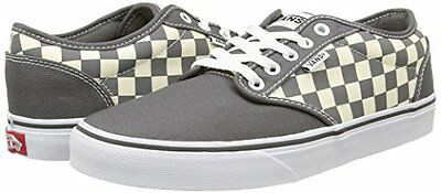 def7dbe037f Vans Atwood Checkers Grey Natural Canvas Men s Shoes New in Box