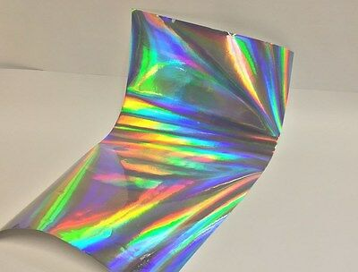 "Silver, Gold, or Black, Rainbow Oil Slick Sign Vinyl, 24"" x 75 Feet, Holographic"
