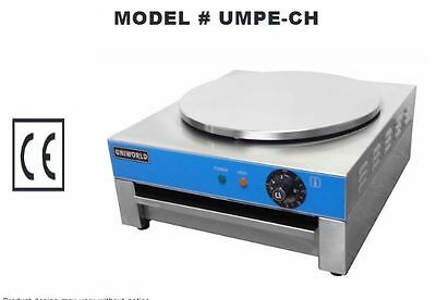 "NEW 15.75"" Round Pancake & Crepe Machine UMPE-CH #4530 Commercial Flat Grill"