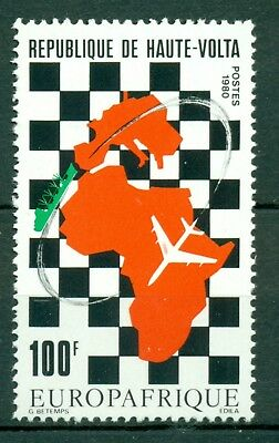 Burkina Faso Scott #538 MNH EUROAFRIQUE Airplane Map $$