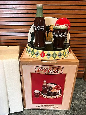Coca Cola Lunch Refreshed Salt & Pepper Shakers Advertising