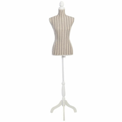 New Female Mannequin Torso Dress Form Display W/ White Tripod Stand