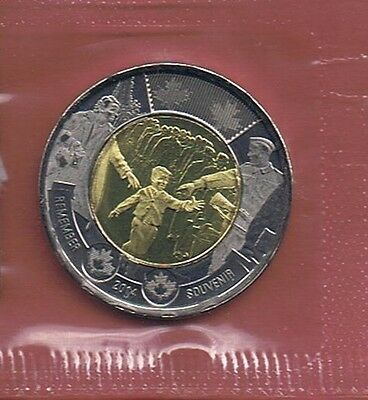 """""""Wait For Me Daddy""""   2014 Canada Ww Ii $2.00 Toonie Coin Unc.  In Mint Wrap* A"""