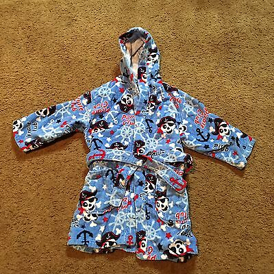 St Eve Swim Child's Terry Robe Pirate Club Hood Cotton Small 5/6