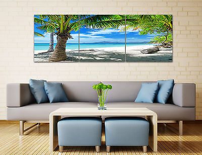 "3PCS 16"" Abstract Wall Decor Art Oil Painting on Canvas NO frame Sunny Beach 91"