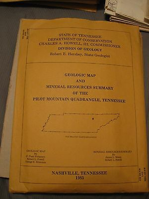 Geologic Map and Mineral Resources Summary of the Pilot Mountain Quadrangle, TN
