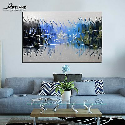 Abstract Large Wall Art Canvas Hand Painted Oil Painting Framed for Living Room