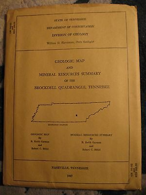 Geologic Map and Mineral Resources Summary of the Brockdell Quadrangle, TN