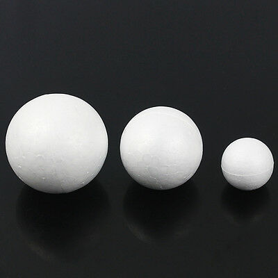 White Modelling Craft Polystyrene Foam Ball Spheres Styrofoam DIY 10/20/50 Pcs