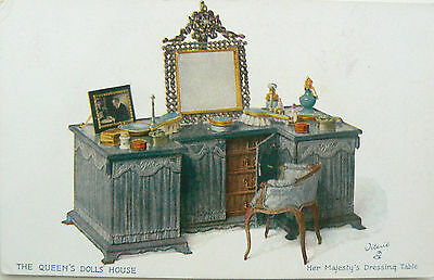 Postcard:tuck's.the Queens Dolls House.series Iv.her Majesty's Dressing Table