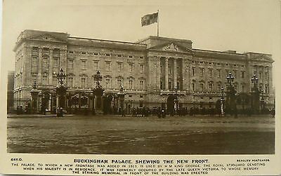 Topographical Postcard:buckingham Palace.'shewing' The New Front.check Spelling!