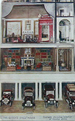 POSTCARD:TUCK'S.THE QUEENS DOLLS HOUSE.SERIES VI,No.4505.THE GARAGE/ROOMS ABOVE