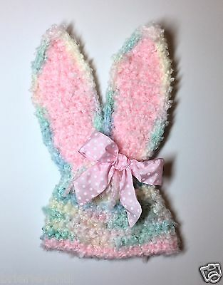 Baby Girl EASTER BUNNY Crochet HAT. Costume. Photo Prop. Choose Size USA Seller