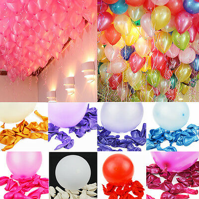 100pcs 10 inch Balloons Fashion Latex Balloon Colorful Pearl Celebration Party