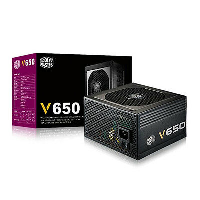 Cooler Master V650 80+ Gold Rated Efficient Modular Power Supply 650W PSU