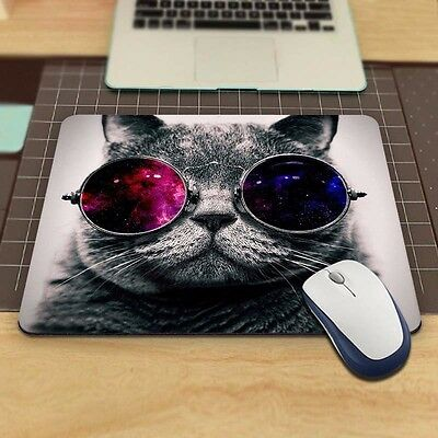 Cat Picture Anti-Slip Laptop PC Mice Pad Mat Mousepad For Optical Laser Mouse