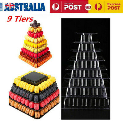 9 Tiers Macaron Tower Display Stand Macaron Stand Clear AU Delivery