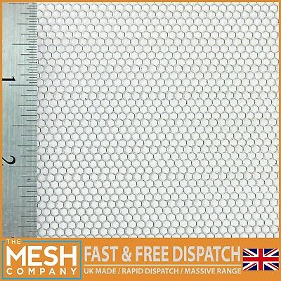 2mm Hexagonal (2mm Hole x 2.5mm Pitch x 1mm Thick) Mild Steel Perforated Sheet