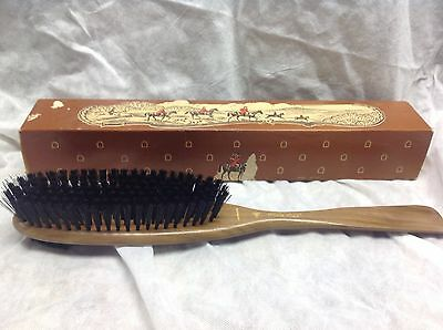 Vintage Oxco Advertising Brush/shoe Horn Walnut With Box