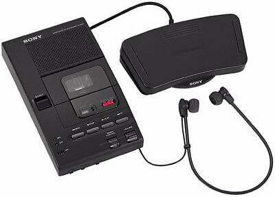 Sony Refurbished M-2000 Microcassette Transcriber w/Foot Control Ear Phon Manual