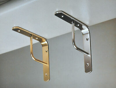 Imof shelf brackets per team 15 cm brass polished for shelves shelf