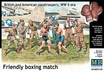 """MASTERBOX """"FRIENDLY BOXING MATCH"""" BRITISH & AMERICAN PARATROOPERS 1:35 cod.35150"""