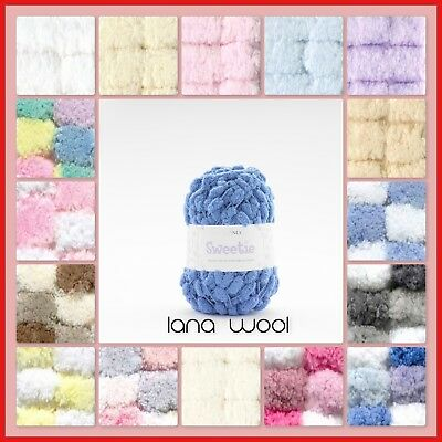 Sirdar Snuggly Sweetie Pom Pom Baby Knitting Wool - Ideal For Baby Blankets