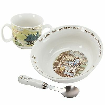 New Baby Gift Boxed Disney Classic Pooh Feeding Set - Bowl Cup & Spoon