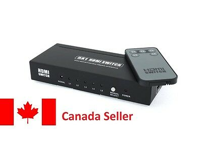 5 Port 5x1 HDMI Switch Switcher Selector with IR Remote