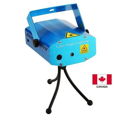 Mini Blue Voice-control R/G Laser Stage Lighting Projector Disco Party DJ Light