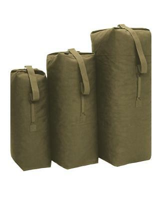 Olive Kit Bag New Military Army Style Heavy Duty Cotton Canvas Kit Bag ~ 3 Sizes