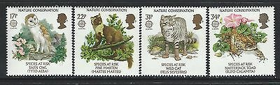 Great Britain - #1141-#1144 - Nature Conservation Set (1986) Mnh Species At Risk