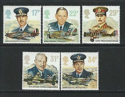 Great Britain - #1157-#1161 - Raf Commanders & Aircraft Set (1986) Mnh