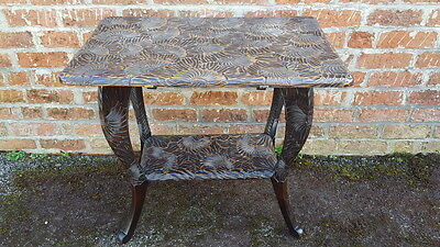 Stunning Antique/Vintage Side/Hall Table Heavily Hand Carved with Flower Heads