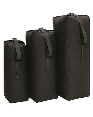 Cotton Canvas Kit Bag Black Kit Bag New Military Army Style Heavy Duty ~ 3 Sizes