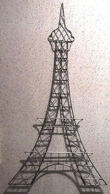 "30.5""  Silver/black Eiffel Tower Metal Wall Hanging Figure"