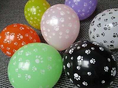 7x Paw Balloons dog footprints Party Decoration Wedding Supplies latex gift